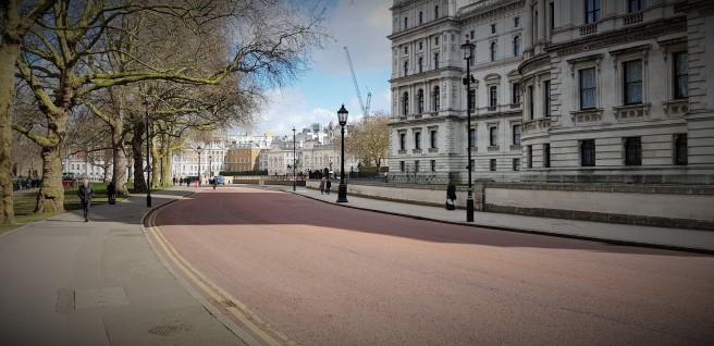 Strade deserte a Londra