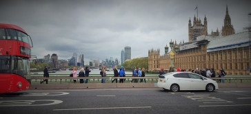Westminster Bridge con le barriere